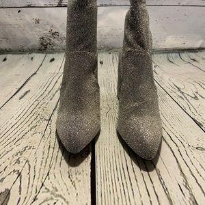 NEW Qupid Mariko Silver Sock Bootie